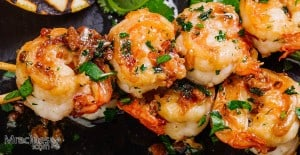 Smoked Seasoned Shrimp Skewers / Kabobs