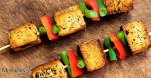Smoked Tofu Skewers or Kabobs