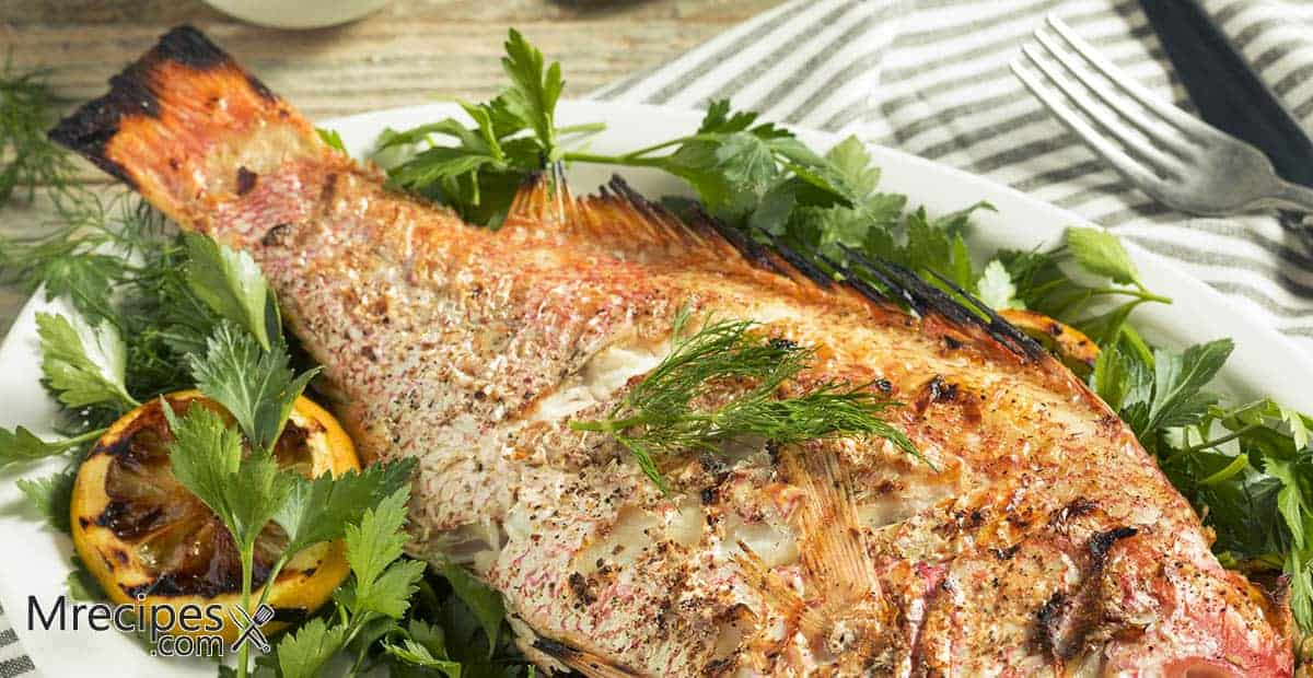 Smoked Whole Snapper with Chimichurri Recipe