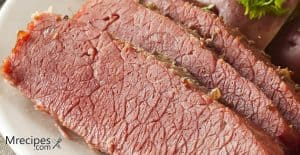 Smoked corned beef with pastrami rub recipe