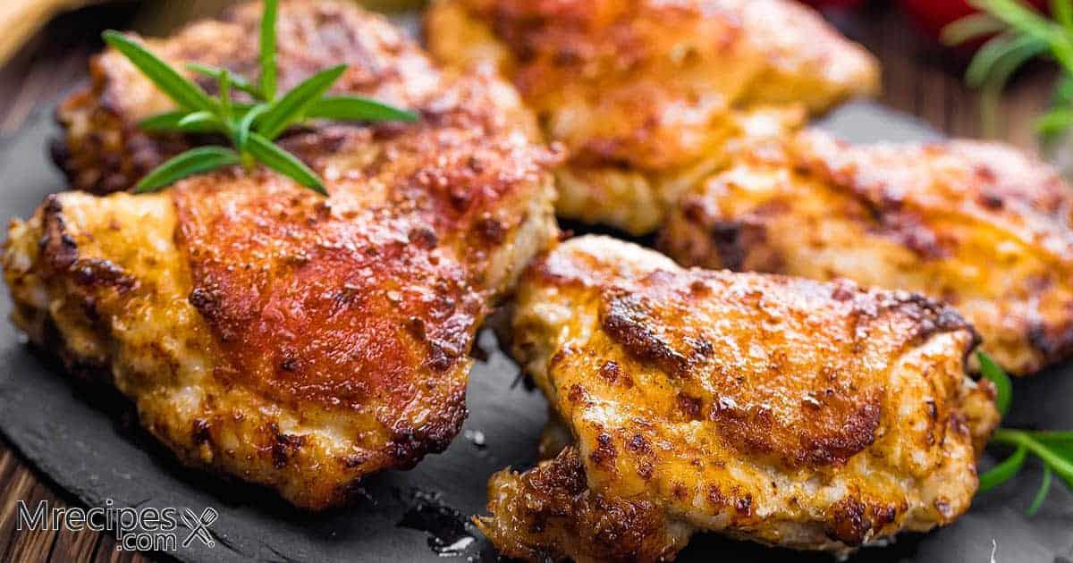 Smoked bone-in chicken thighs