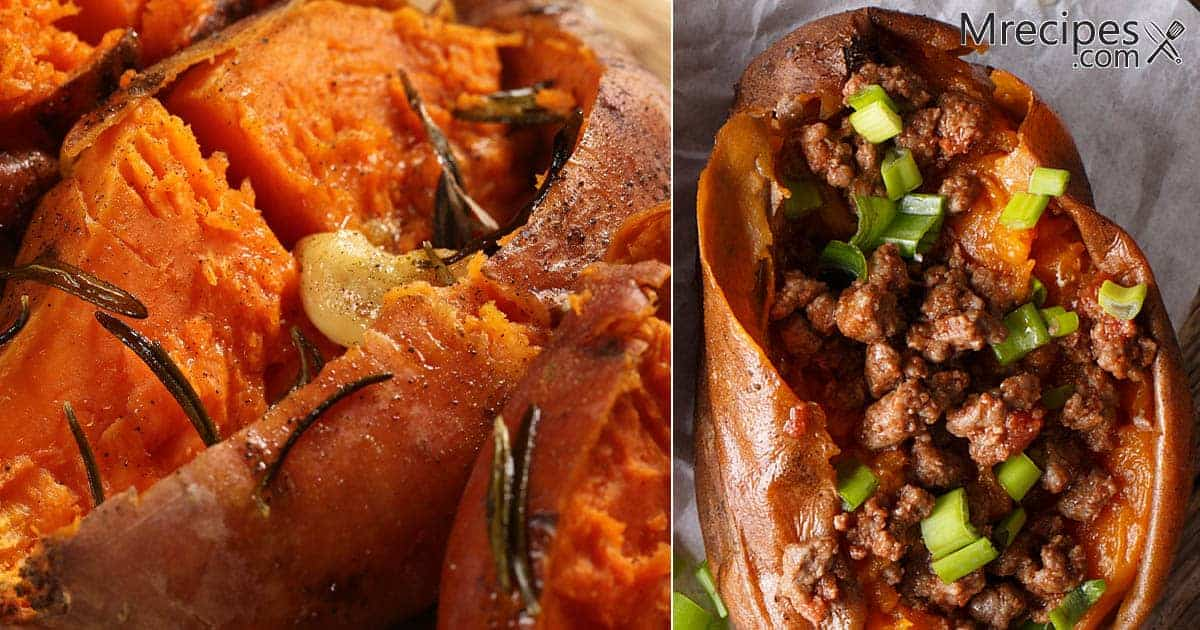 Smoked Sweet Potatoes with Three Topping Options Recipe