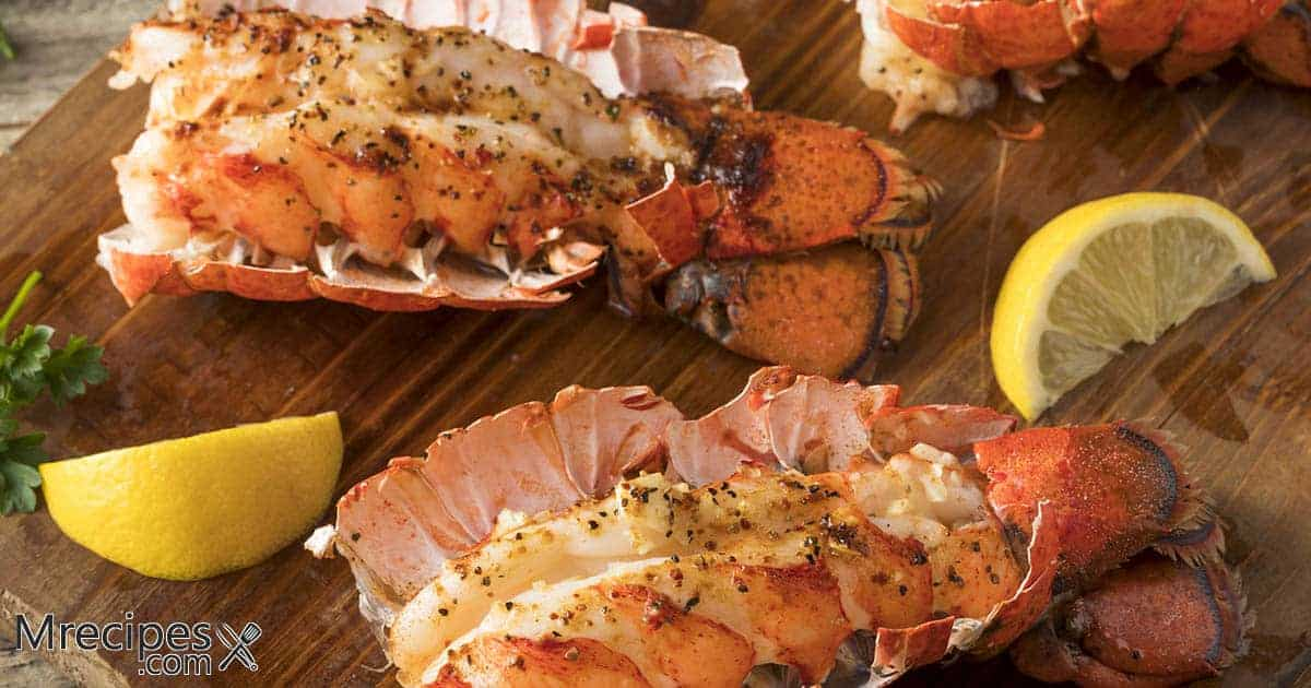 Smoked Lobster Tails with Herb Butter on a Masterbuilt Smoker Recipe