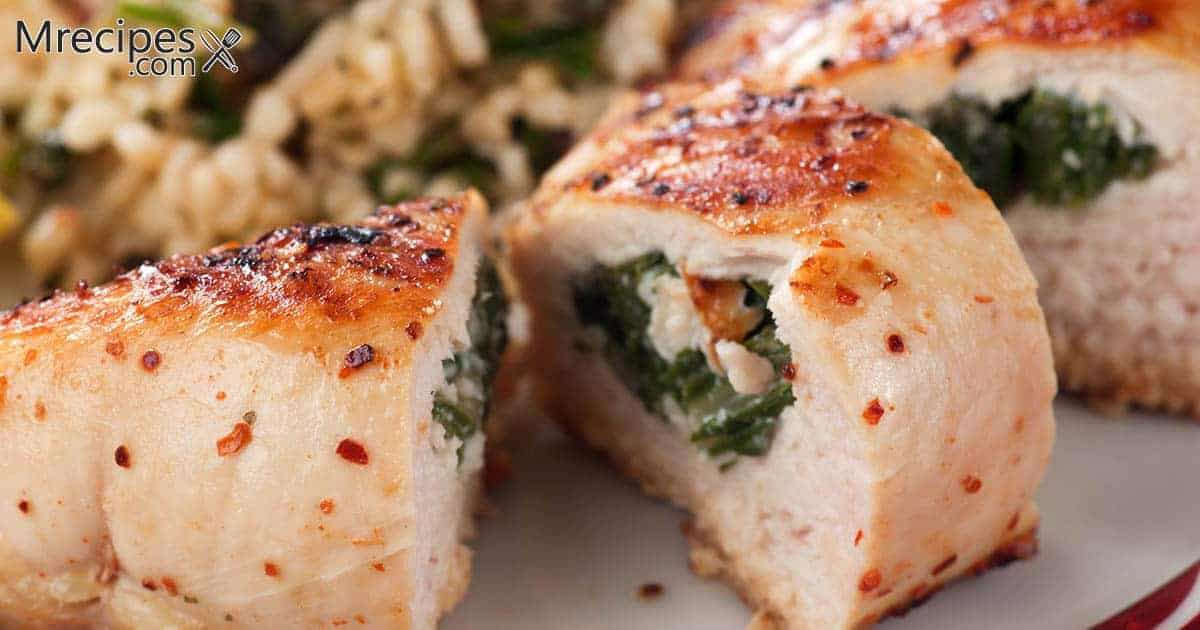 Smoked Spinach Stuffed Chicken Breasts and Crab Stuffed Chicken Breasts Recipe