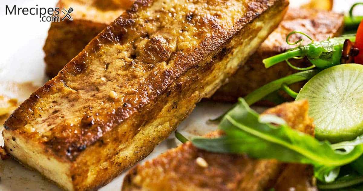 Marinated and Smoked Tofu Steaks in a Masterbuilt Smoker Recipe