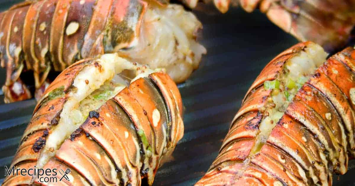 Lobster tails in smoker